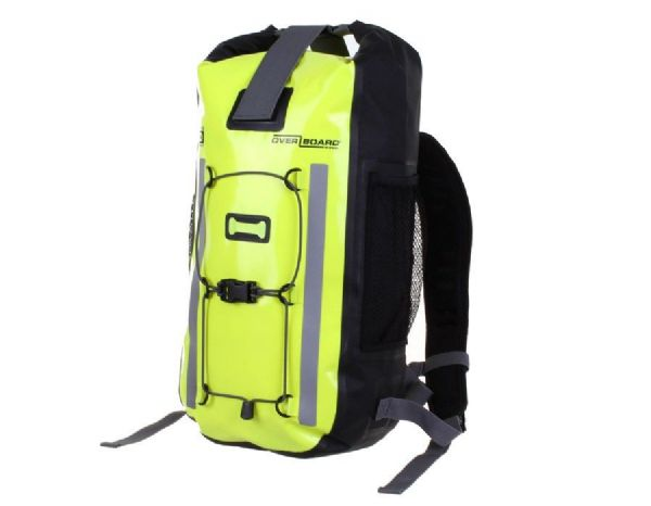 OverBoard Pro-Vis 100% Waterproof 20 Litres Backpack Rucksack - Hi Vis Yellow - Cycling Walking